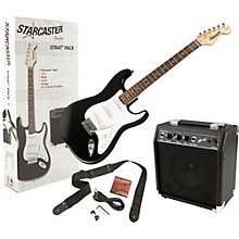 Starcaster by Fender Stratocaster Electric Guitar Value Pack