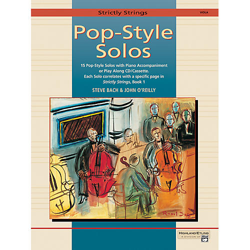 Alfred Strictly Strings Pop-Style Solos Viola Book Only-thumbnail