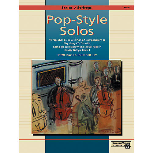 Alfred Strictly Strings Pop-Style Solos Violin Book Only-thumbnail