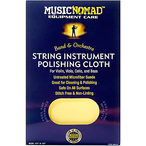 Music Nomad String Instrument Microfiber Polishing Cloth for Violin, Viola, Cello & Bass