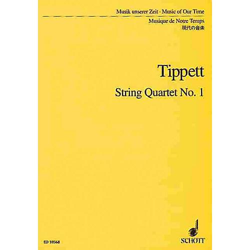 Schott String Quartet No. 1 (Study Score) Schott Series Composed by Michael Tippett