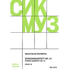 Sikorski String Quartet No. 13 String Ensemble Series Softcover Composed by Mieczyslaw Weinberg