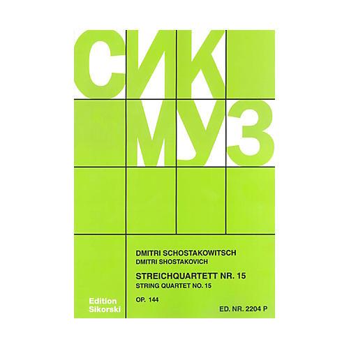 Sikorski String Quartet No. 15, Op. 144 (Score) String Series Softcover Composed by Dmitri Shostakovich