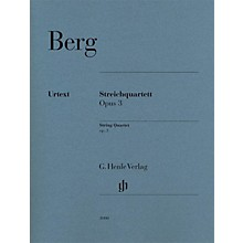 G. Henle Verlag String Quartet Op. 3 (Parts) Henle Music Folios Series Composed by Alban Berg