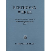G. Henle Verlag String Quartets III Henle Complete Edition Series Softcover Composed by Ludwig van Beethoven