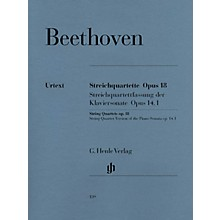 G. Henle Verlag String Quartets Op. 18 and String Quartet Version of the Piano Sonata Op. 14 Henle Music by Beethoven