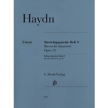 G. Henle Verlag String Quartets, Vol. V, Op. 33 (Russian Quartets) Henle Music Folios Series Softcover by Joseph Haydn
