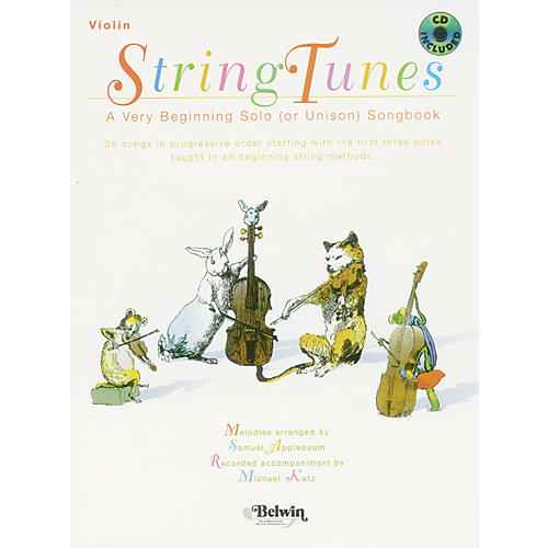 Alfred StringTunes - A Very Beginning Solo (or Unison) Songbook Violin Book & CD-thumbnail