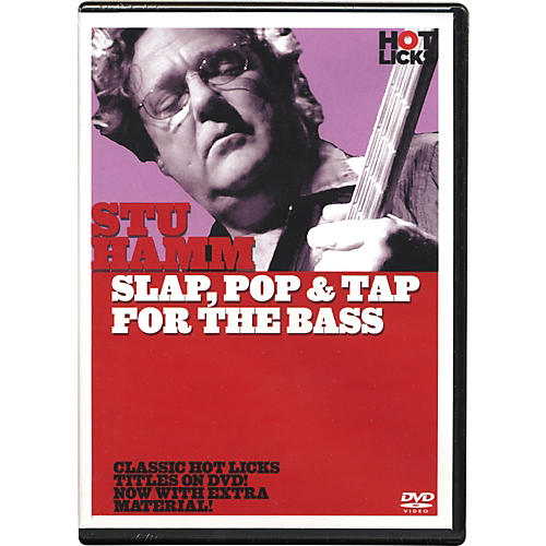 Hot Licks Stu Hamm Slap, Pop & Tap for the Bass DVD
