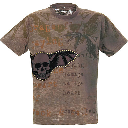 Dragonfly Clothing Company Studded Skull Wings Men's T-Shirt