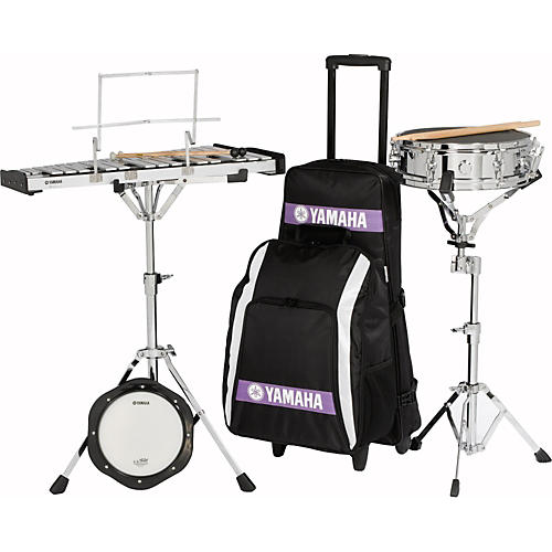 Yamaha Student Combination Snare/Bell Kit with Backpack and Rolling Cart-thumbnail
