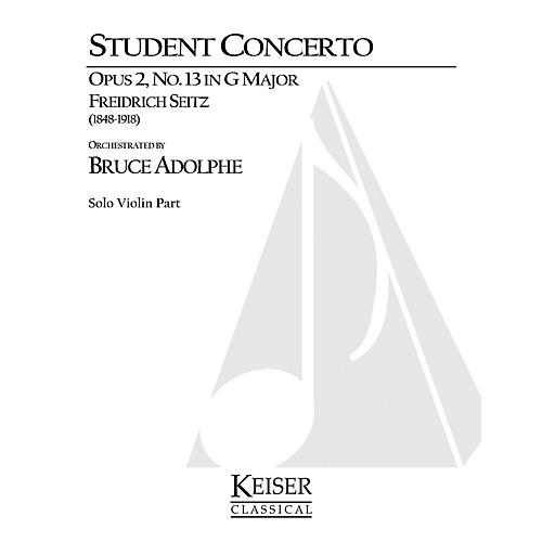 Lauren Keiser Music Publishing Student Concerto No. 2, Op. 13 in G Major LKM Music Series Composed by Friedrich Seitz