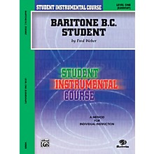 Alfred Student Instrumental Course Baritone (B.C.) Student Level 1 Book