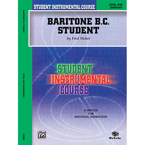 Alfred Student Instrumental Course Baritone (B.C.) Student Level 1 Book-thumbnail