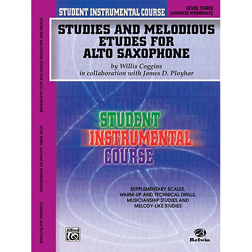 Alfred Student Instrumental Course Studies and Melodious Etudes for Alto Saxophone Level III Book