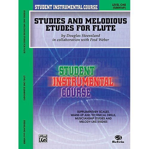 Alfred Student Instrumental Course Studies and Melodious Etudes for Flute Level I