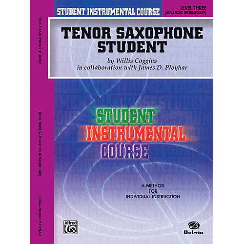 Alfred Student Instrumental Course Tenor Saxophone Student Level 3 Book