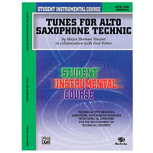 Alfred Student Instrumental Course Tunes for Alto Saxophone Technic Level I Book-thumbnail
