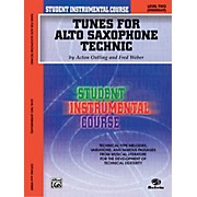 Alfred Student Instrumental Course Tunes for Alto Saxophone Technic Level II Book