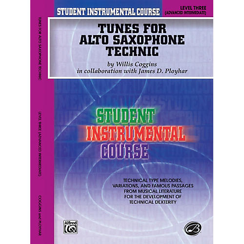 Alfred Student Instrumental Course Tunes for Alto Saxophone Technic Level III Book-thumbnail