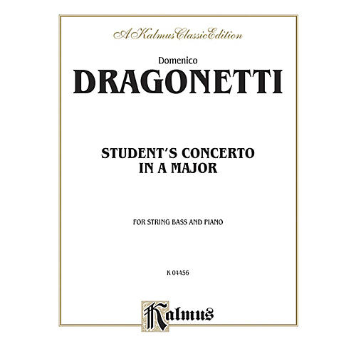 Alfred Student's Concerto in A Major for String Bass By Domenico Dragonetti Book-thumbnail