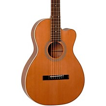 Recording King Studio Series 12 Fret Cutaway ThermoCure Top 0 Acoustic Guitar Level 1 Natural