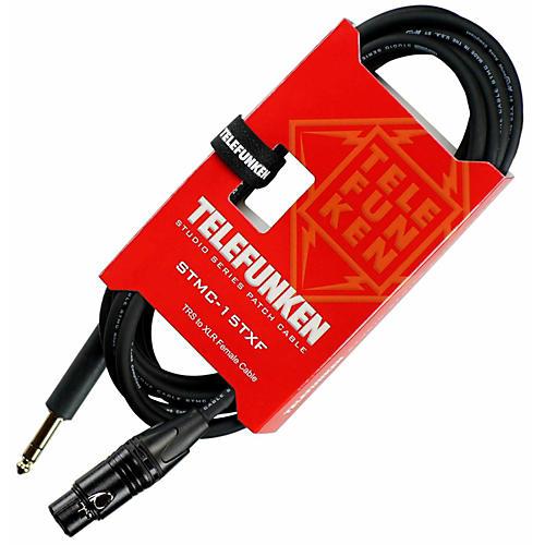 Telefunken Studio Series TRS - XLR Female Cable 30 ft. Black-thumbnail