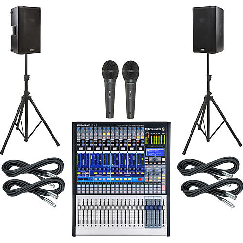 Presonus StudioLive 16.4.2 PA Package with QSC K10 Speakers-thumbnail