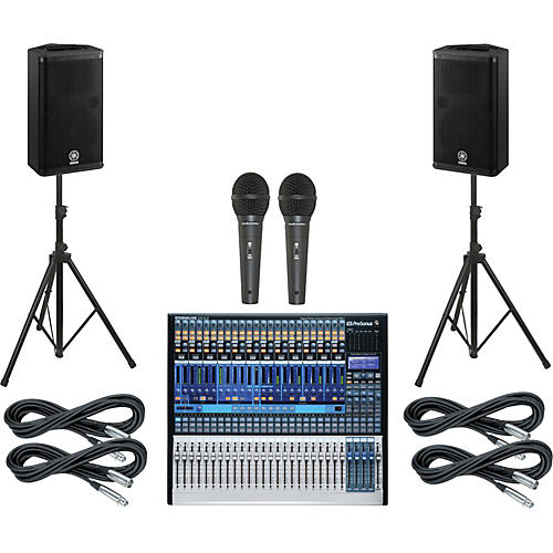 PreSonus StudioLive 24.4.2 PA Package with Yamaha DSR112 Speakers-thumbnail
