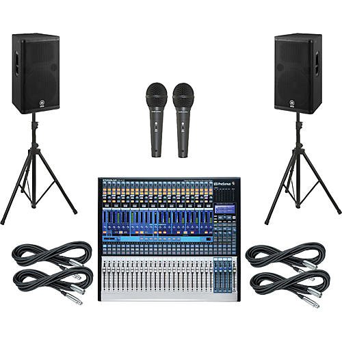 PreSonus StudioLive 24.4.2 PA Package with Yamaha DSR115 Speakers