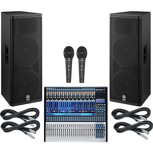 Presonus StudioLive 24.4.2 PA Package with Yamaha DSR215 Speakers-thumbnail