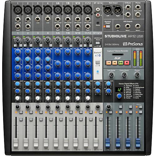 Presonus StudioLive AR12 14-Channel Hybrid Digital/Analog Performance Mixer-thumbnail