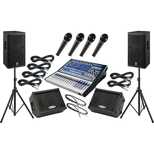 Presonus Studiolive 16.0.2 / Yamaha DSR115 Mains and Monitors Package