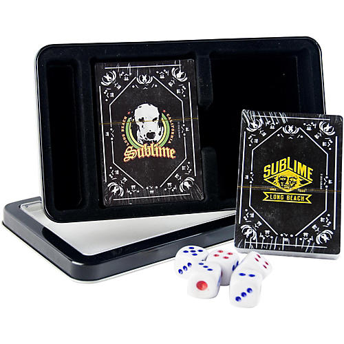 Iconic Concepts Sublime Double Deck Playing Card Set with Dice - Lou Dog and Sublime Logo in Tin Box-thumbnail