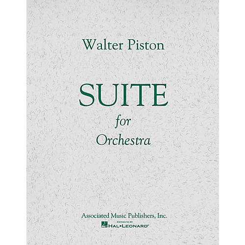 Associated Suite No. 1 for Orchestra (Full Score) Study Score Series Composed by Walter Piston