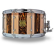 OUTLAW DRUMS Suite Stripe Douglas Fir and Maple Stave Snare Drum with Chrome Hardware
