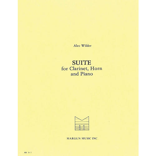 Margun Music Suite for Clarinet, Horn and Piano Shawnee Press Series Composed by Alec Wilder