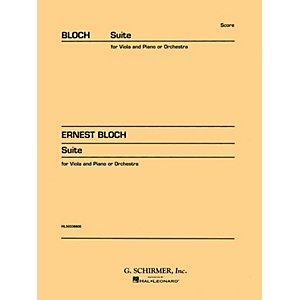G. Schirmer Suite for Viola or Cello and Orchestra Study Score No. 146 ...