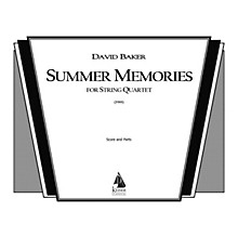 Lauren Keiser Music Publishing Summer Memories (String Quartet) LKM Music Series Composed by David Baker