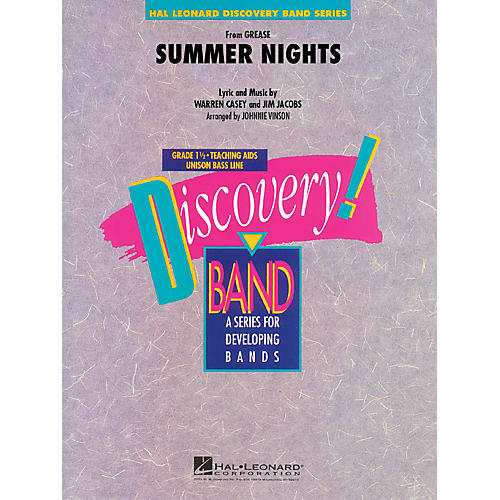 Hal Leonard Summer Nights (from Grease) Concert Band Level 1.5 Arranged by Johnnie Vinson