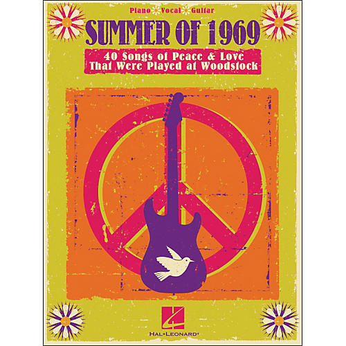 Hal Leonard Summer Of 1969 - Songs Of Peace & Love That Were Played At Woodstock arranged for piano, vocal, and guitar (P/V/G)-thumbnail
