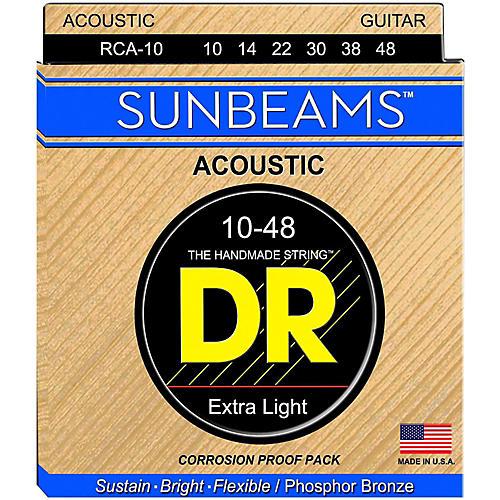 DR Strings Sunbeam Phosphor Bronze Lite Acoustic Guitar Strings-thumbnail