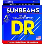 DR Strings Sunbeams NMR5-45 Medium 5-String Bass Strings .125 Low B