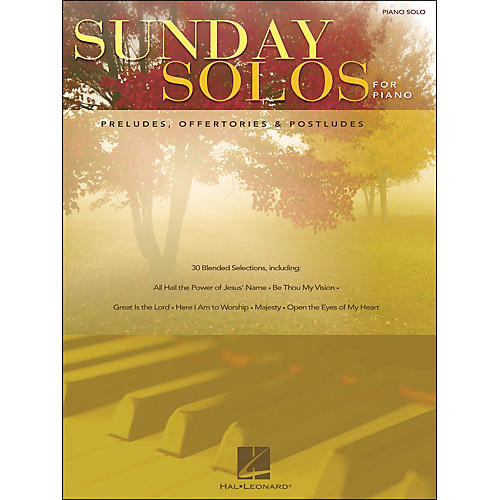 Hal Leonard Sunday Solos for Piano - Preludes, Offertories, & Postludes for Piano Solo-thumbnail