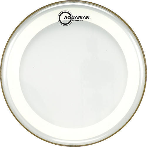 Aquarian Super-2 Clear Drumhead with SX Ring 18 in.-thumbnail