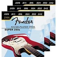 Fender Super 250L 9-42 3-Pack