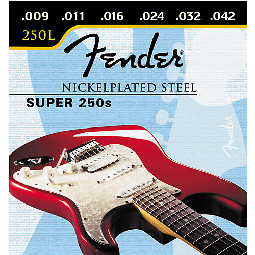 Fender Super 250L Nickel/Steel Light Ball End Electric Guitar Strings-thumbnail