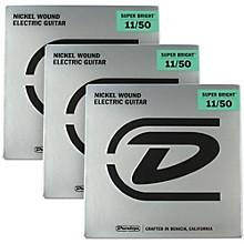 Dunlop Super Bright Medium Heavy Nickel Wound Electric Guitar Strings (11-50) 3-Pack