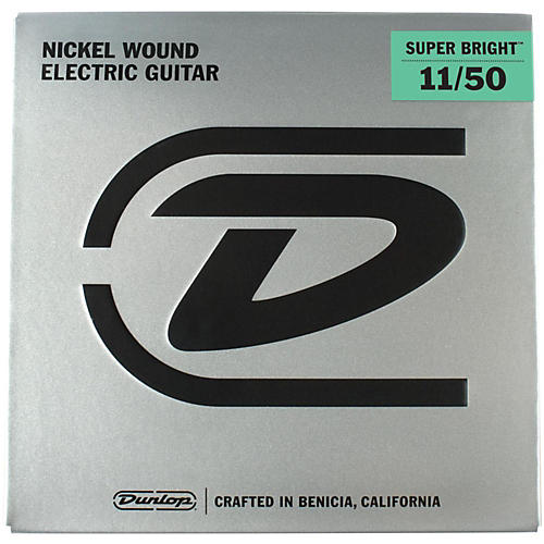 Dunlop Super Bright Medium Heavy Nickel Wound Electric Guitar Strings (11-50)