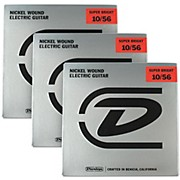 Dunlop Super Bright Medium Nickel Wound 7-String Electric Guitar Strings (10-56) 3-Pack